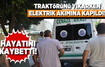 Traktörünü yıkarken elektrik akımına kapıldı! Hayatını kaybetti!