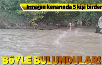 Irmağın kenarında 5 kişi birden... Böyle bulundular!