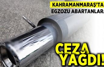 Kahramanmaraş'ta egzozu abartanlara ceza yağdı!