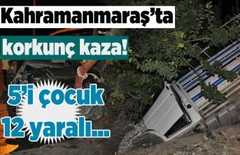 Kahramanmaraş'ta korkunç kaza, yaralılar var!