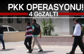 PKK operasyonu! 4 gözaltı...
