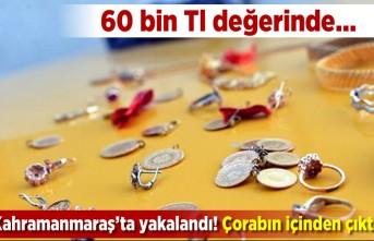 60 bin TL değerinde... Kahramanmaraş'ta yakalandı! Çorabın içinden çıktı!