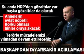 Başkan'dan Diyarbakır açıklaması!
