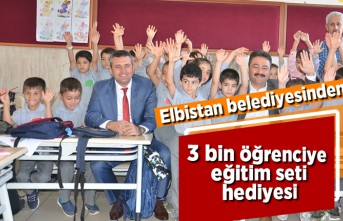 Elbistan Belediyesinden 3 bin öğrenciye eğitim seti!