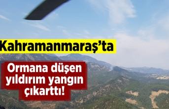 Kahramanmaraş'ta ormana düşen yıldırım yangın çıkarttı!