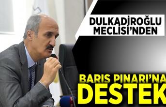 DULKADİROĞLU MECLİSİ'NDEN BARIŞ PINARI'NA DESTEK
