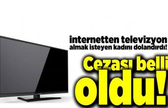 İnternetten televizyon almak isteyen kadını dolandırdı! Cezası belli oldu!