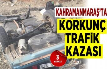 Kahramanmaraş'ta trafik kazası, 3 yaralı!