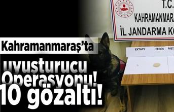 Kahramanmaraş'ta uyuşturucu operasyonu! 10 gözaltı!