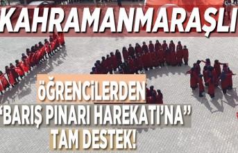 """Kahramanmaraşlı öğrencilerden """"Barış Pınarı Harekatı'na'' tam destek!"""