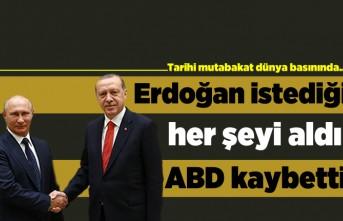Tarihi mutabakat dünya basınında... Erdoğan istediği her şeyi aldı ABD kaybetti!