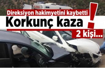 Direksiyon hakimiyetini kaybetti... Korkunç kaza!
