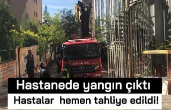 Hastanede yangın çıktı! Hastalar hemen tahliye edildi!