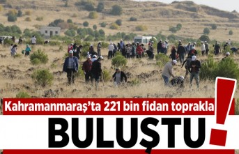 Kahramanmaraş'ta 221 fidan toprakla buluştu!