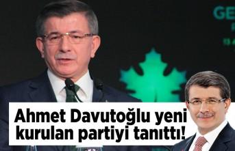 Ahmet Davutoğlu yeni kurulan partiyi tanıttı!