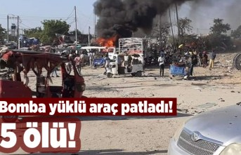 Bomba yüklü araç patladı! 5 ölü!