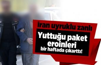 İran uyruklu zanlı yuttuğu paket eroinleri bir haftada çıkarttı!
