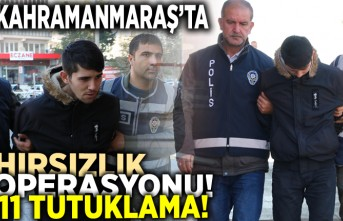 Kahramanmaraş'ta hırsızlık operasyonu! 11 tutuklama...