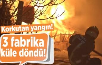 Korkutan yangın! 3 fabrika küle döndü!
