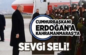 Cumhurbaşkanı Erdoğan'a kahramanmaraş'ta sevgi seli!