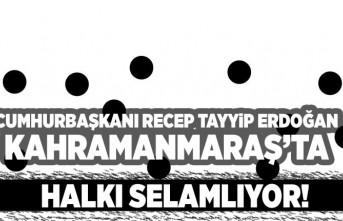 CUMHURBAŞKANI RECEP TAYYİP ERDOĞAN HALKI SELAMLIYOR!