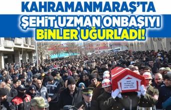 Kahramanmaraş'ta şehit uzman onbaşıyı binler uğurladı!