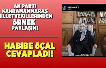 AK Parti Kahramanmaraş Milletvekili Habibe Öçal, ''Evde kal'' çağrısında bulundu!