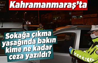 Kahramanmaraş'ta sokağa çıkma yasağında bakın kime ne kadar ceza yazıldı?