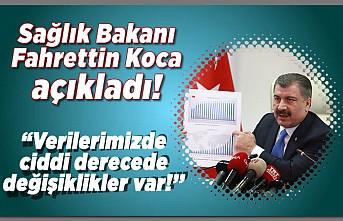 Sağlık Bakanı Fahrettin Koca açıkladı! ''Verilerimizde ciddi derecede değişiklikler var!''
