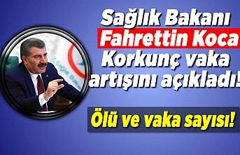 Sağlık Bakanı Fahrettin Koca korkunç vaka artışını açıkladı!