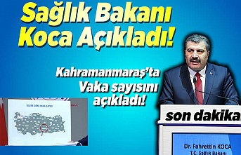 Sağlık Bakanı Koca Kahramanmaraş'ta aktif vaka sayısını açıkladı!