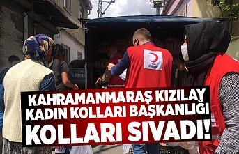 Kahramanmaraş Kızılay Şubesi Kadın Kolları Başkanlığı kolları sıvadı!