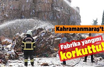 Kahramanmaraş'ta fabrika yangını korkuttu!