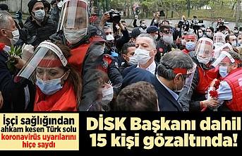 Taksim Meydanı'na izinsiz yürümek isteyen gruba müdahale edildi! DİSK Genel Başkanı Arzu Çerkezoğlu gözaltında!