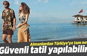 Almanlardan Türkiye'ye tam not! Güvenli tatil yapılabilir