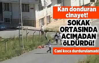 Kan donduran cinayet! Sokak ortasında acımadan öldürdü! Cani koca durdurulamadı!