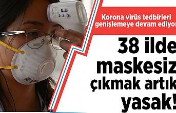 Korona virüs tedbirleri genişlemeye devam ediyor! 38 İlde maskesiz çıkmak yasak!