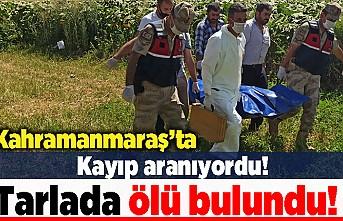 Kahramanmaraş'ta Kayıp aranıyordu! Tarlada ölü bulundu!