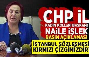 """CHP Kadın Kollar Başkanı Nail İşlek:""""İSTANBUL SÖZLEŞMESİ KIRMIZI ÇİZGİMİZDİR!"""""""