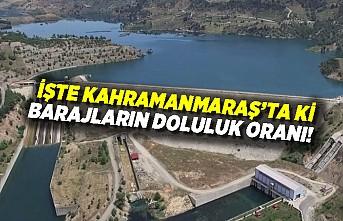 İşte Kahramanmaraş'taki barajların doluluk oranı