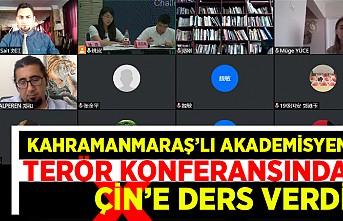 Kahramanmaraş'lı akademisyen terör konferansında Çin'e ders verdi
