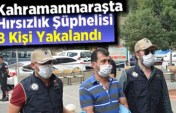 Kahramanmaraşta Hırsızlık Şüphelisi 8 Kişi Yakalandı