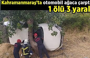Kahramanmaraş'ta otomobil ağaca çarptı 1 ölü 3 yaralı