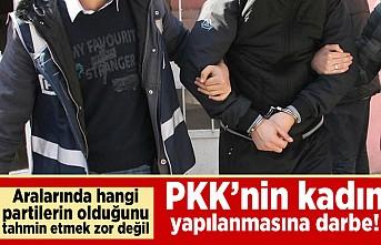 Aralarında hangi partilerin olduğu tahmin etmek zor değil! PKK'nın kadın yapılanmasına darbe!