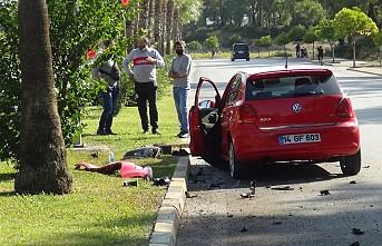 Kaza yapan araca bakmak için yavaşlayan sürücü ikinci kazaya sebep oldu
