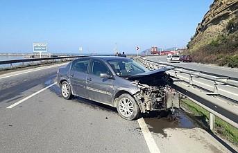 Oğlunu korumak için kazayı üstlendi