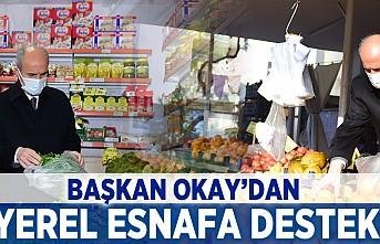 Başkan Okay'dan yerel esnafa destek!