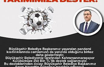 Büyükşehir'den Kahramanmaraşspor'a 250 Bin TL Destek