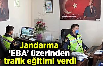 Jandarma 'EBA' üzerinden trafik eğitimi verdi