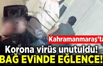 Kahramanmaraş'ta korona virüs unutuldu! Bağ evinde eğlence!